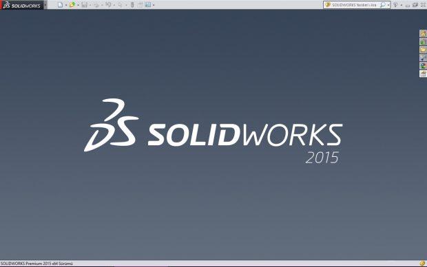 solidworks giriş ekranı